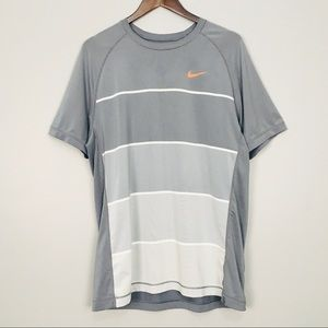 Men's Nike Dri Fit Striped Short Sleeve Tee